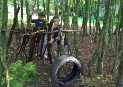 Year 6 team-building activities at Rugged Earth