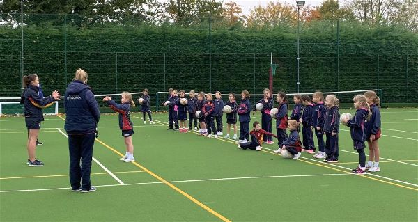 U8 Joint Netball Lesson With St Teresa's